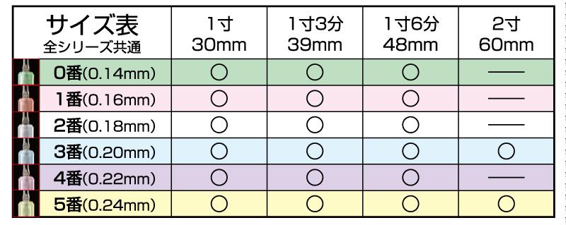 共通-サイズ表